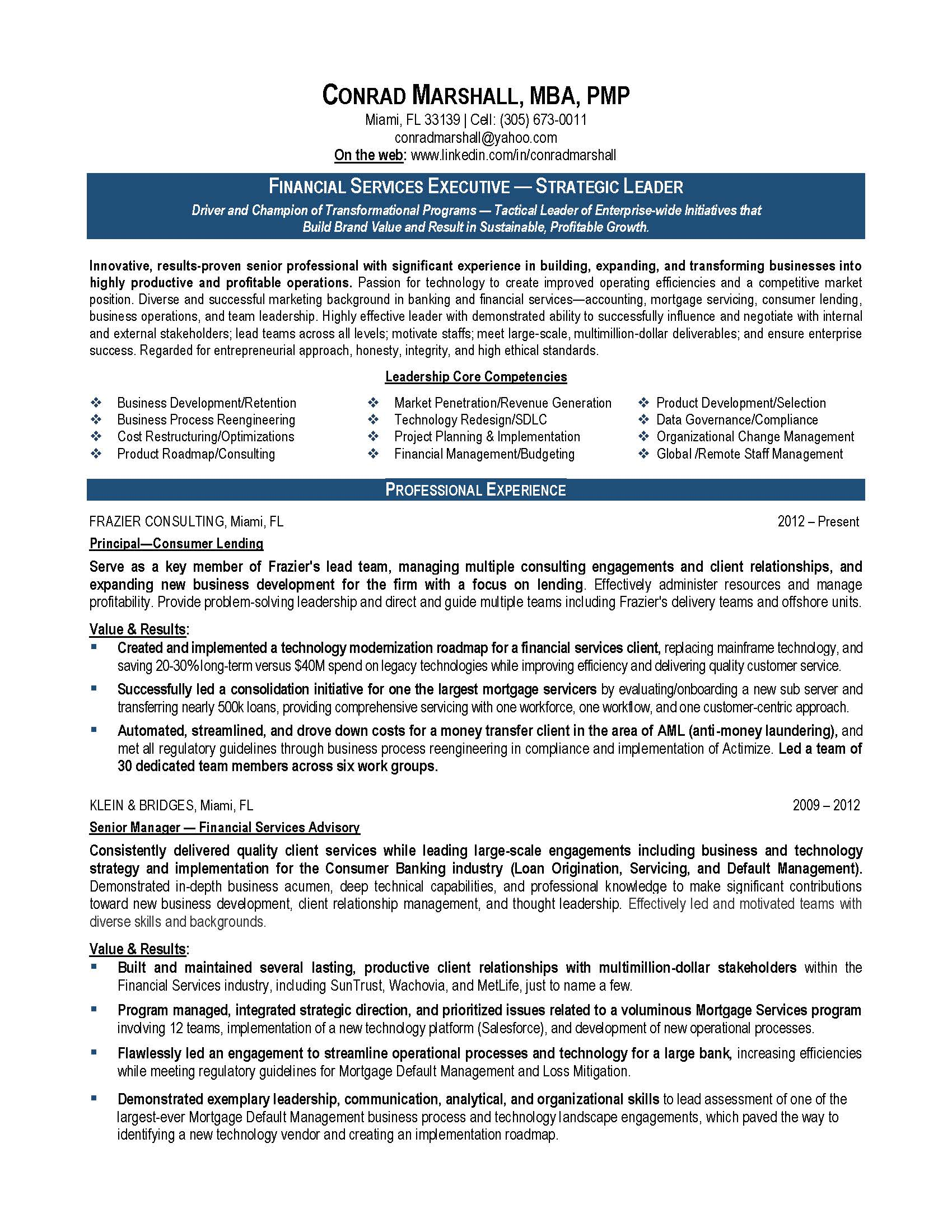 Finance Resume Sample, Provided By Elite Resume Writing Services  Resume Organizational Skills