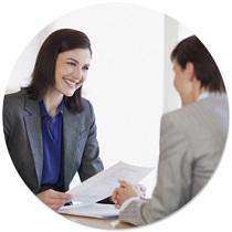 Certified Interview Employment Coach prepares client for an upcoming interview.